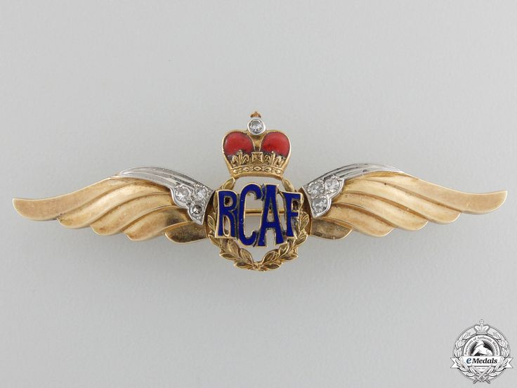 A Royal Canadian Air Force Wing in Gold and Diamonds | eMedals