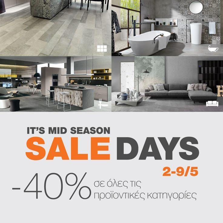 Mid #Season #Sale @ Porcelana #upto40% Επωφεληθείτε! Από τις 2 έως και τις 9 Μαΐου ανανεώστε μοναδικά τον χώρο σας με έκπτωση 40%, επιλέγοντας από τις πλέον ενημερωμένες συλλογές της Porcelana, εμπνευσμένες από τις σύγχρονες τάσεις #design! Aνακαλύψτε ολοκληρωμένες προτάσεις υψηλής αισθητικής για το δάπεδο, το μπάνιο, την κουζίνα και το έπιπλο, πάντα με την υπογραφή, την ποιότητα και το απαράμιλλο design Porcelana. #Designyourlife with #Favorite Pieces at Favorite…