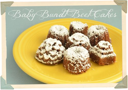 Baby Bundt Beet Cakes!   Using a lovely recipe from @TigerinaJar