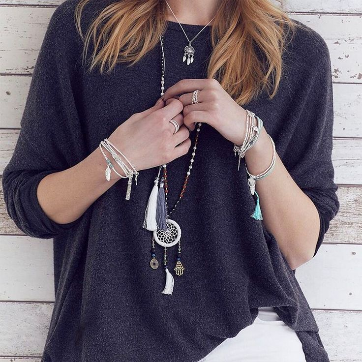 Layer our necklaces to create that iconic #anniehaak stacked look!