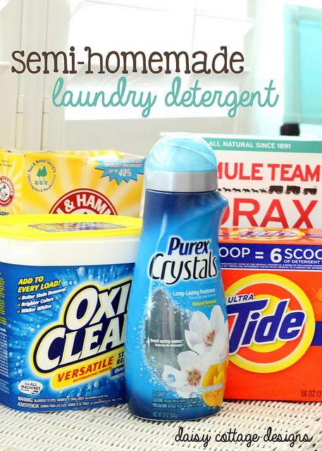 Semi Homemade Laundry Detergent Recipe Homemade