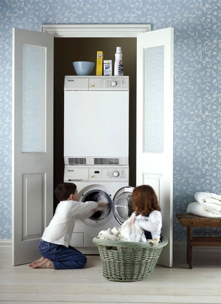 Hidden Laundry Room | Smelly Laundry? | Washer Odor? | http://WasherFan.com | Permanently Eliminate or Prevent Washer & Laundry Odor with Washer Fan™ Breeze™ | #Laundry #WasherOdor  #SWS
