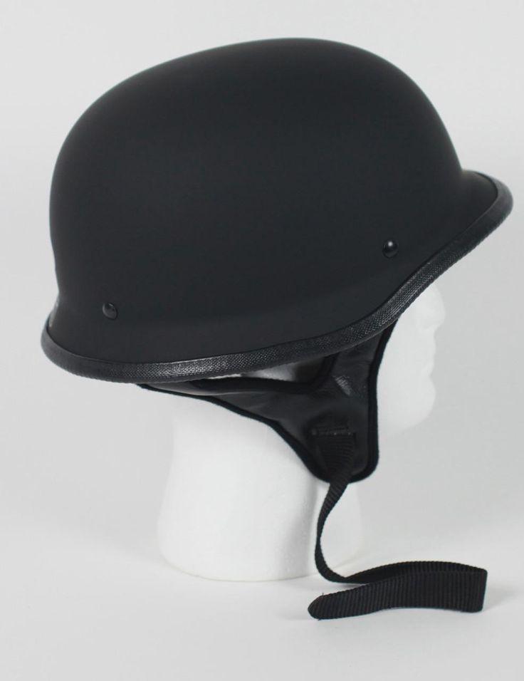 half german motorcycle helmet $19.95 #motorcyclehelmet #motorcyclehelmets #germanhelmet #blackgermanhelmet http://leatherdropship.com