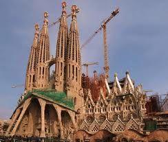 La catedral de la sagrada familia echa por el grandisimo arquitecto Antoni Gaudí.