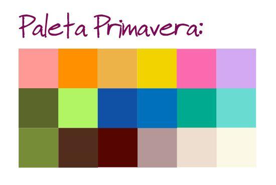 As pessoas Primavera geralmente tem o tom de pele mais dourado. As ruivas menos pálidas também costumam ficar melhor com os tons dessa categoria. As cores mais indicadas são vibrantes, alegres e de fundo mais quente, como laranja, verde água e dourados.