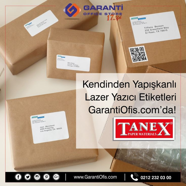 Birbirinden farklı ebatlardaki A4 lazer printer etiketlerini en uygun fiyatla GarantiOfis.com'dan online sipariş verebilirsiniz.  #etiket #lazeretiket #tanexetiket #kagıturunleri #ofismalzemeleri #garantiofis