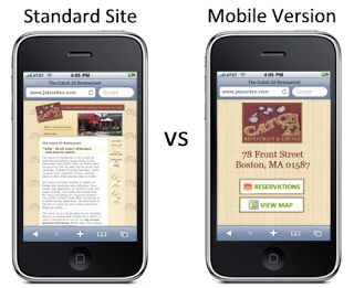 Mobile Version Websites
