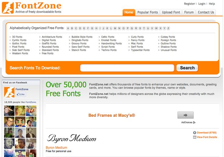 FontZone - Pagina web donde descargarse fuentes gratis.