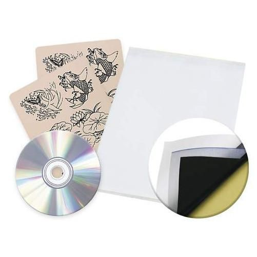 12 Tattoo Practice Skins Transfer Paper and Flash CD