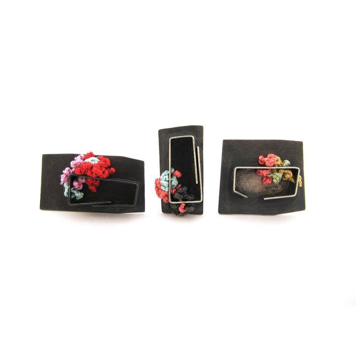 AntiGenre Jewelry - New work - Small Colony Brooches