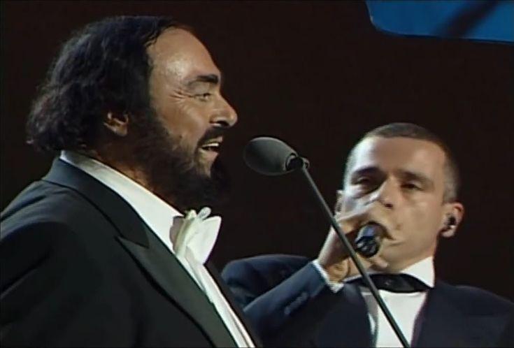 Luciano Pavarotti & Eros Ramazzotti - Se Bastasse Una Canzone (720pHD)