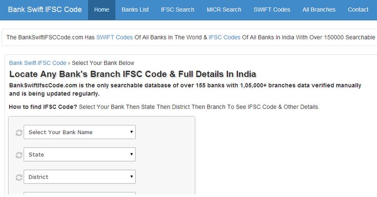 Find Swift codes and IFSC codes of all banks in the world at BankSwiftIfscCode.com