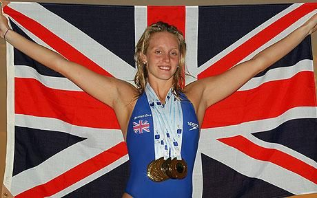 Fran Halsall won #Britain's first Bronze at the Swimming World Championships - Here she is at the 2010 European Championships with her 5 medals.