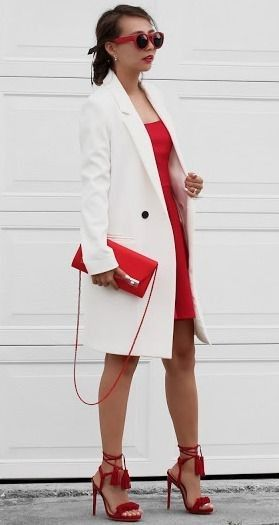 White Coat On Red | White and Red Valentine's Day Outfit with Lulu*s | Different Colors & Different Styles #white