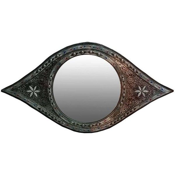 Large Eye Shape Moroccan Mirror, Resin And Camel Bone Inlaid ($999) ❤ liked on Polyvore featuring home, home decor, mirrors, brown, wall mirrors, cream wall mirror, framed mirrors, antique white mirror, brown mirror and framed wall mirrors