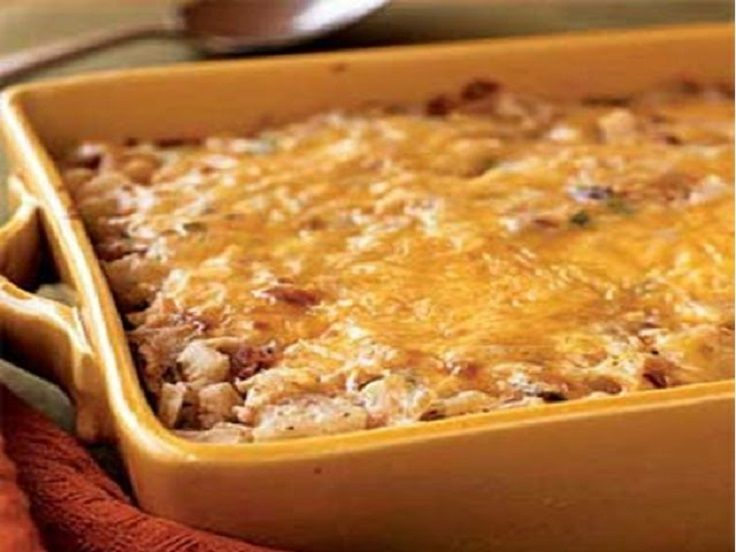 Hash Brown Casserole with Bacon, Onions and Cheese (Under 300 Calories) - 15 Low Calories Recipes