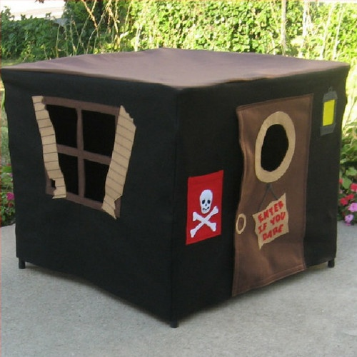 Pirates Hideout Card Table Playhouse Pattern by Miss Pretty Pretty contemporary kids toys