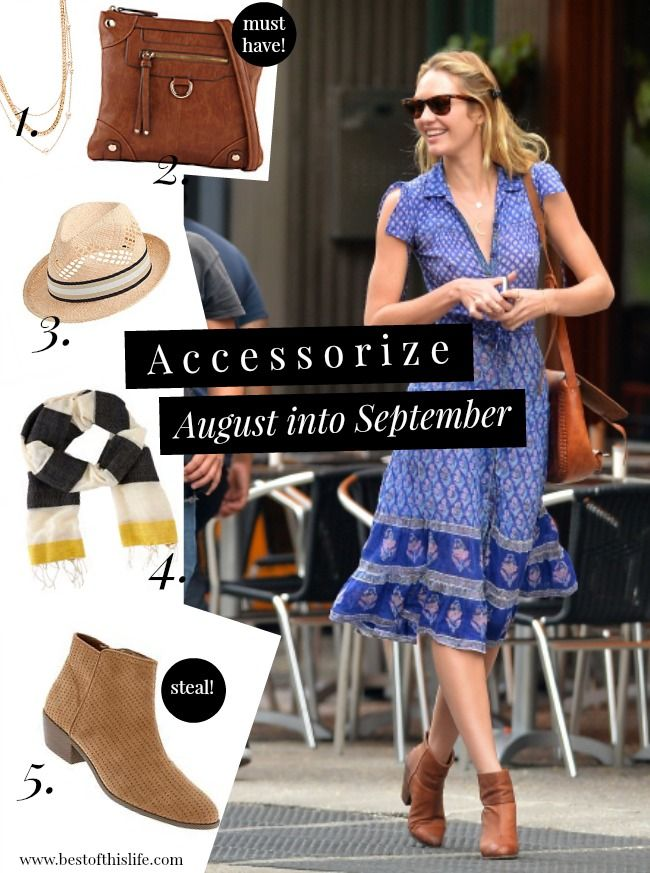 Transition accessories from summer to fall