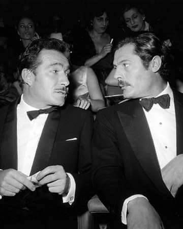 Ugo Tognazzi and Marcello Mastroianni