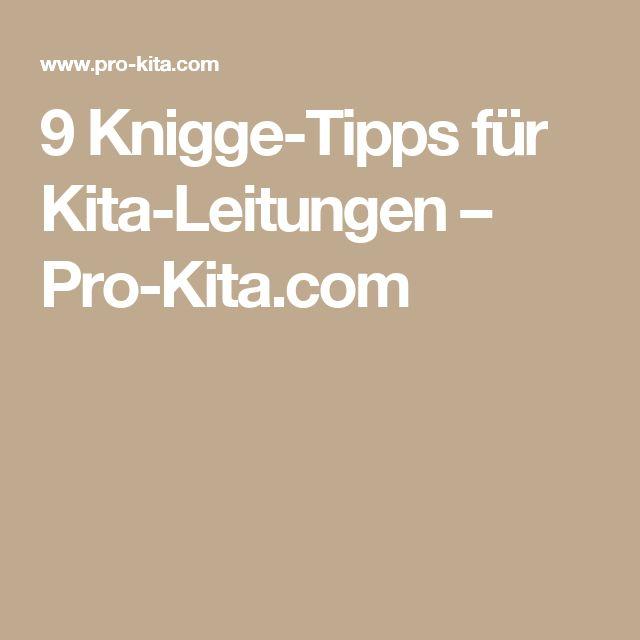 9 Knigge-Tipps für Kita-Leitungen – Pro-Kita.com
