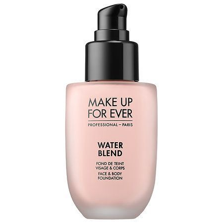 Water-based foundation is your best bet for a barely-there feel. This formula provides natural-looking coverage that stays put and doesn't rub off. Plus, it comes in 20 different shades, so it's easy to find your perfect match.  MAKE UP FOR EVER Water Blend Face & Body Foundation, $43, available at Sephora.