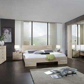 New Dormitor Anna stejar crom lustruit