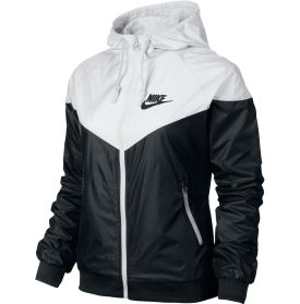 Flow with the breeze as you take off in the Nike® Women's Windrunner Full Zip Running Jacket. You'll experience minimal restriction and lightweight, water-repellant protection thanks to a DWR fabric. Multi-paneled hood construction with an adjustable drawcord guards against the elements, and an interior mesh lining promotes air flow for breathability. Step up to Mother Nature's challenge and jog in rain or shine with the Windrunner jacket.