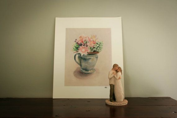 Blushing Bride Print by LikaHorn on Etsy