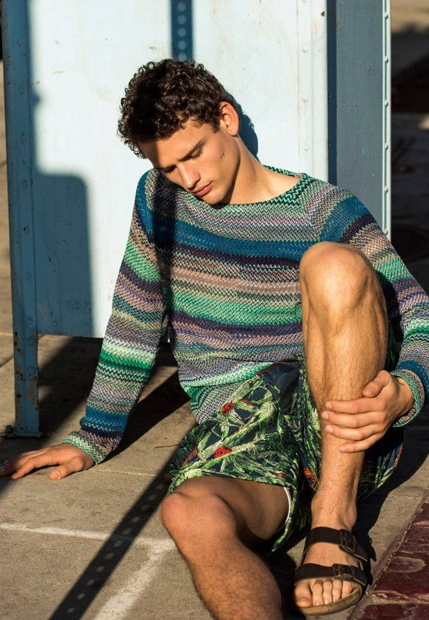 """Simon Nessman in """"Blue Crush"""" by Greg Vaughan for the Rollacoaster Magazine Spring Summer 2015 Issue"""