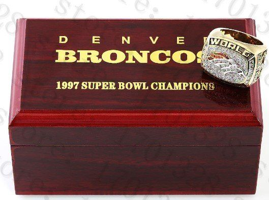 Denver Broncos 1997 Super Bowl Championship Replica Ring-High Grade Collector Series