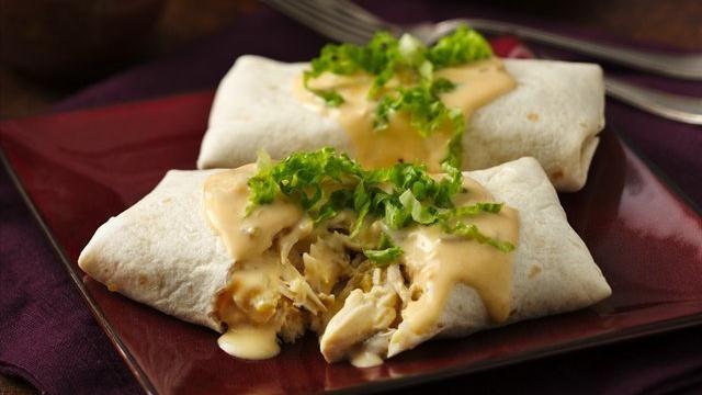 Cheesy Chicken Sour Cream Burritos