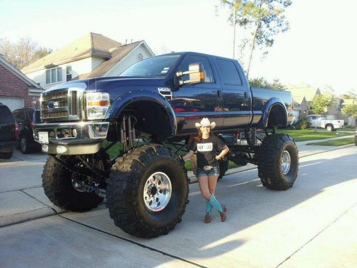 Now that... is a lifted truck!