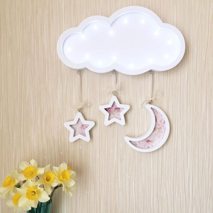 Gift for baby Cloud lamp Cloud lights for nursery Night light Baby lamp Nursery decor Baby room Lighting Marquee cloud