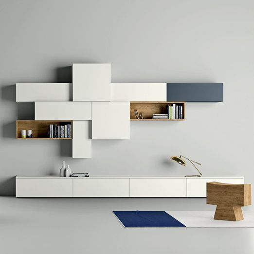 Modern designer TV unit for elegant living room interior, available in at My Italian Living Ltd