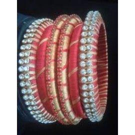 Bangle set made of silk thread-92