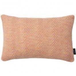 Louise Roe Herringbone Cushion Oblong, Pearl Peach