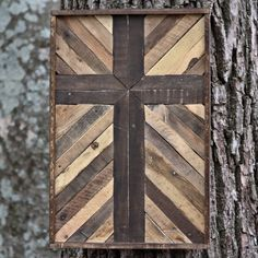 Rustic wooden cross made from pallet wood by christopherrthompson