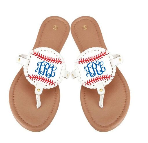 Medallion sports sandals are the perfect way to show your team spirit!!! Available in Baseball, Softball and Football design Monogram, Team Name, or the number of your favorite player make these one of a kind!!  ~~~~ PLEASE NOTE THAT THESE WILL BEGIN SHIPPING AT THE END OF MARCH ~~~~~~  Whole sizes only available in sizes 6, 7, 8, 9, an 10  Measurements shown in the third picture above!   | C H E C K O U T ~ I N S T R U C T I O N S |  under drop down box - 1. Choose sandal style 2. Choose…