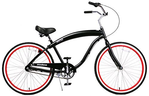 Fito Men's Modena EX Aluminum Alloy 3-Speed 26-Inch Wheel Beach Cruiser Bicycle, Matte Black/Red http://coolbike.us/product/fito-mens-modena-ex-aluminum-alloy-3-speed-26-inch-wheel-beach-cruiser-bicycle-matte-blackred/
