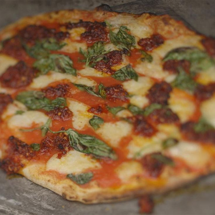 Try this Ndjua Sausage and Sheeps Cheese Pizza recipe by Chef James Martin. This recipe is from the show James Martin's Home Comforts.