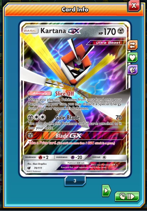 RA Kartana GX Regular Art Pokemon TCG ONLINE ( PTCGO digital card )