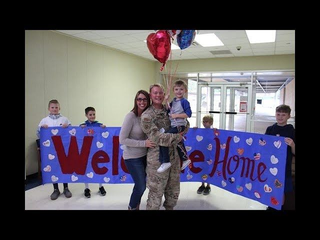 Soldier surprises son at  Elementary School--Texas - A Pre-K student in Fort Bend ISD got the sweetest surprise Tuesday from his father, who had been serving overseas.  Staff Sgt. Garret Miron surprised Connor Miron at Pecan Grove Elementary Tuesday during a welcome back parade for the soldier.
