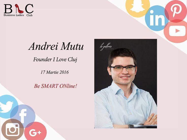"""I Love Cluj!  Andrei Mutu, iniţiatorul brandului """"I Love Cluj"""" spune """"prezent"""" evenimentului din 17 Martie (https://goo.gl/JQyaH2)  Curioși să aflați povestea unui brand de succes?  Înscrierile continuă!  #BeSMARTOnline"""