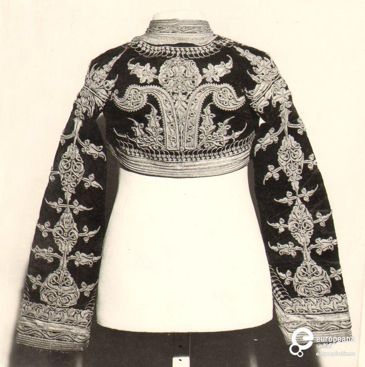 Jacket, linen, metal, coral. Late 19th century, Kosovo