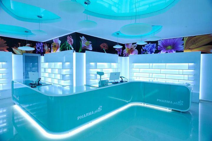 Pharmacy Design | Retail Design | Store Design | Pharmacy Shelving | Pharmacy Furniture | Pharma Plus drug store by H Studio