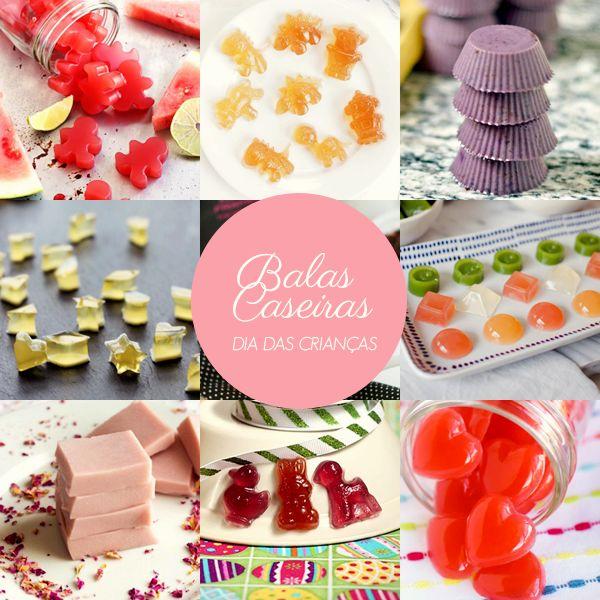 Receita de bala caseira usando gelatina, suco de frutas e mel