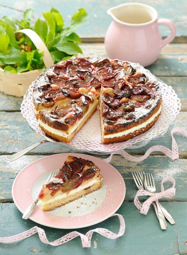 Himmlische Pflaumen Joghurt Torte Mit Apfelgelee Verfeinert Rezepte Bildderfrau De Joghurttorte Lecker Kuchen Und Torten