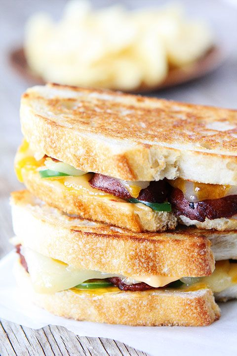 Chorizo Grilled Cheese with Chipotle Mayo - Two Peas & Their Pod