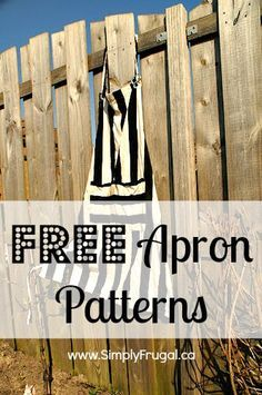 Free Apron Patterns I thought I would do a round-up of free apron patterns! Enjoy! Full Aprons: Smock Apron from Still Dottie Denim Jean Aprons Fat Quarter Apron BBQ Apron with Rivet Accents (for the male BBQ master?) An Apron for the Fair (was entered...