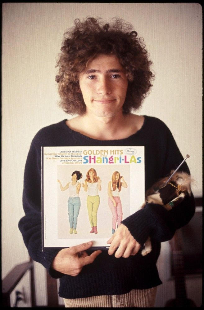Tim Buckley with Golden Hits of the Shangri-Las / photo by ed caraeff / malibu, 1967